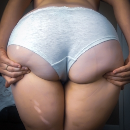 Marble Grey and White Panties