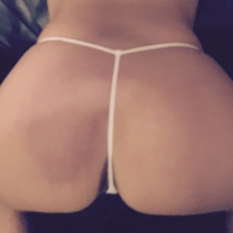 Little White Lacey G-String