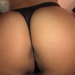 Black Velvet VS Sheer Back Thong
