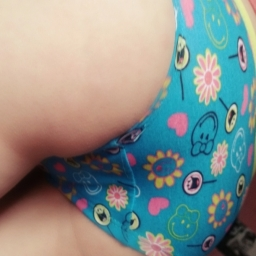Bright blue smiley girl panties