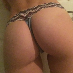 Lace top blue thong
