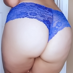 Electric Blue Lace Panties