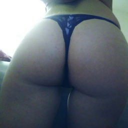 Victoria Secret blue lace thong