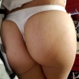 White Cotton Thong