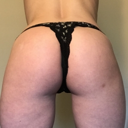 Black with Silver hearts Lace THONG