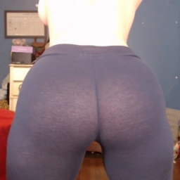 See-Through Navy Leggings