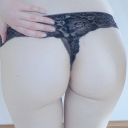 Black Lace Thong