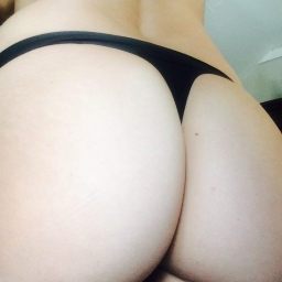 Tight Black silky thong