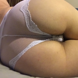 White lace panties