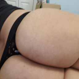 Black VS lace thong